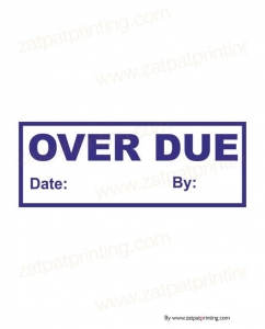 Over Due Stamp