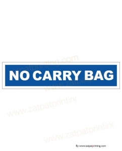 No Carry Bag