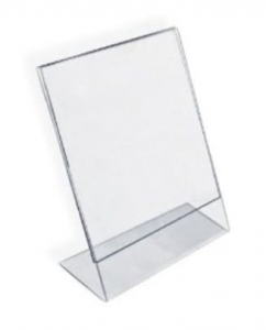 Table Display L Card Transparent