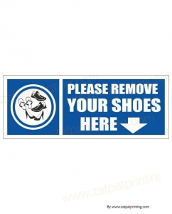 Remove Shoes Here
